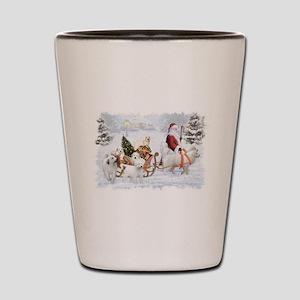 Great Pyrenees Shot Glass, Pyrs &Amp; Santa