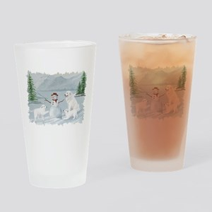 Great Pyrenees Drinking Glass, Winterlake