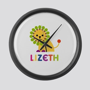 Lizeth the Lion Large Wall Clock