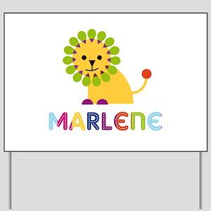 Marlene the Lion Yard Sign