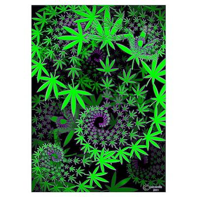 Marijuana fractal Poster