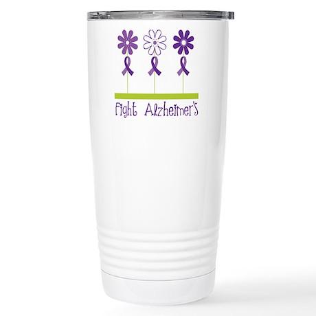 Fight Alzheimers Stainless Steel Travel Mug