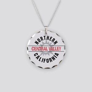 Central Valley California Necklace Circle Charm