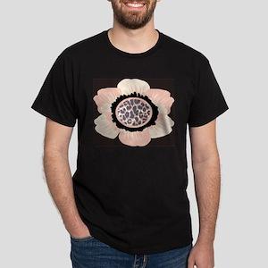 Pink and White Flower Leopard Dark T-Shirt