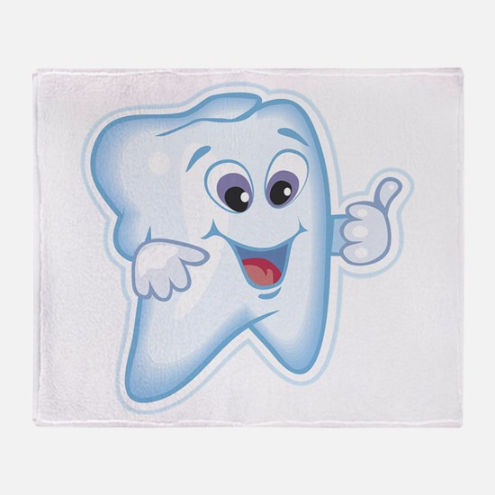 Healthy Happy Tooth Throw Blanket