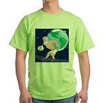 Atlas' Shoelace Problem Green T-Shirt