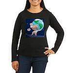 Atlas' Shoelace P Women's Long Sleeve Dark T-Shirt