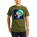 Atlas' Shoelace Probl Organic Men's T-Shirt (dark)