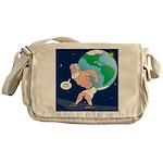 Atlas' Shoelace Problem Messenger Bag