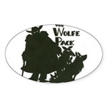 Nero Wolfe Sticker (Oval 50 pk)