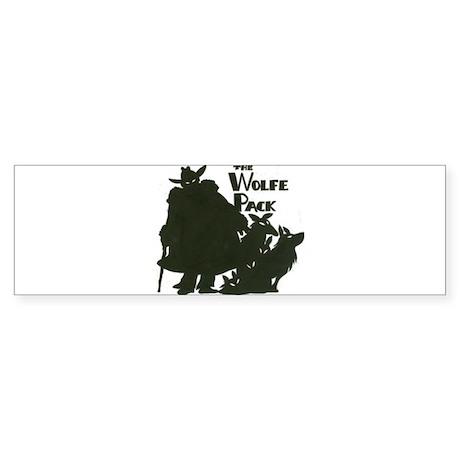 Nero Wolfe Sticker (Bumper)