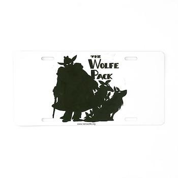 Nero Wolfe Aluminum License Plate
