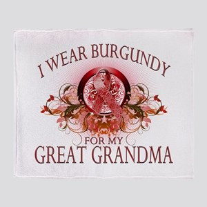I Wear Burgundy for my Great Throw Blanket