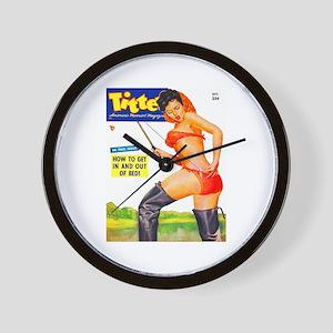 Titter Fishing Beauty Girl Cover Wall Clock