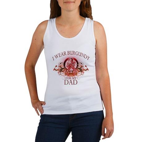 I Wear Burgundy for my Dad (f Women's Tank Top
