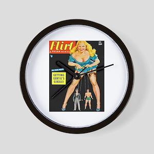 Flirt Blonde Beauty Girl Cover Wall Clock