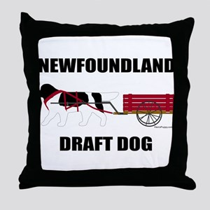 Landseer Draft Dog Throw Pillow