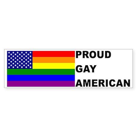 USA Gay Pride Flag Bumper Sticker