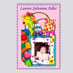 Girl's Personalized Giraffe Postcards (8) - Custom