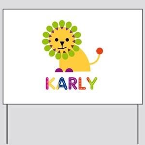Karly the Lion Yard Sign