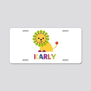 Karly the Lion Aluminum License Plate