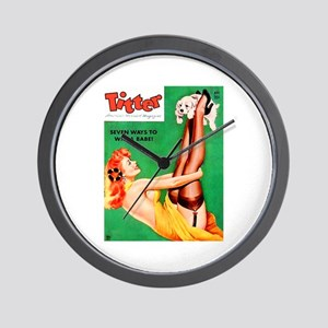 Titter Redhead Girl with Dog Wall Clock