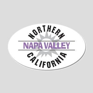 Napa Valley California 22x14 Oval Wall Peel