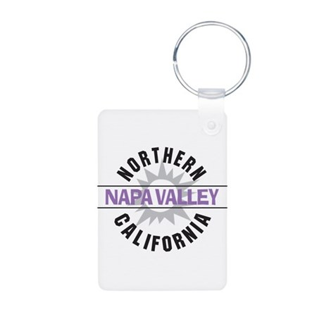 Napa Valley California Aluminum Photo Keychain