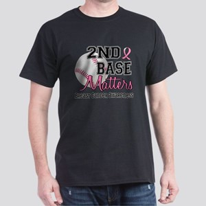 Second 2nd Base Breast Cancer Dark T-Shirt