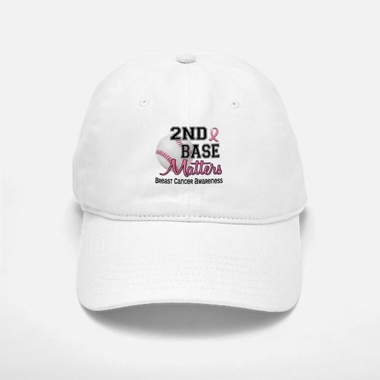 Second 2nd Base Breast Cancer Baseball Baseball Cap