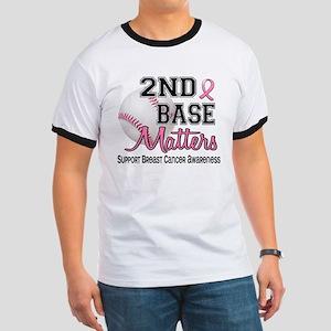 Second 2nd Base Breast Cancer Ringer T