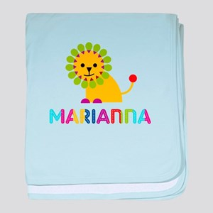 Marianna the Lion baby blanket