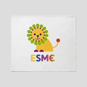 Esme the Lion Throw Blanket