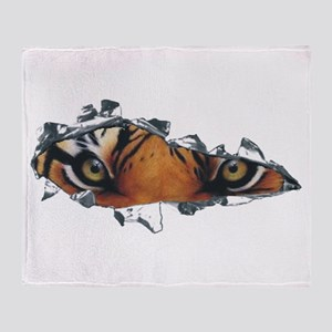 Tiger Eyes Throw Blanket