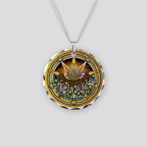 Ostara Pentacle Necklace Circle Charm