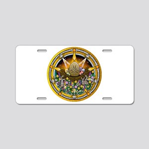Ostara Pentacle Aluminum License Plate