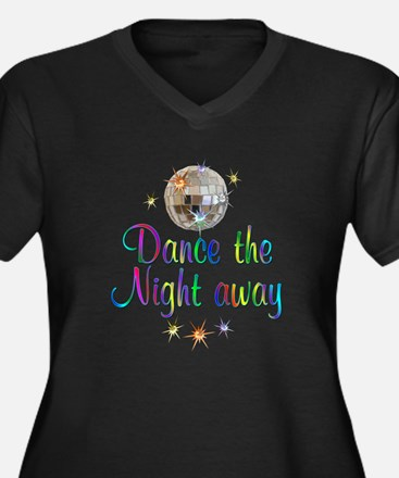 Dance Away Women's Plus Size V-Neck Dark T-Shirt