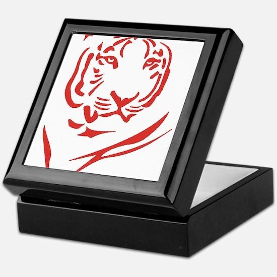 Red Tiger Keepsake Box