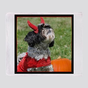 Halloween Shih Tzu Throw Blanket