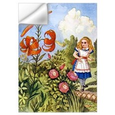 ALICE & THE TALKING FLOWERS Wall Decal