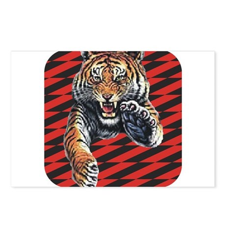 Red Black Tiger Postcards (Package of 8)