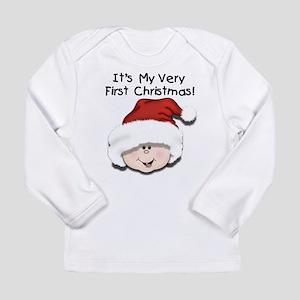White Baby 1st Christmas Long Sleeve Infant T-Shir