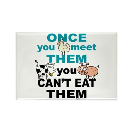 Animal Compassion Rectangle Magnet