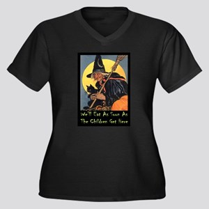 We'll Eat Wh Women's Plus Size V-Neck Dark T-Shirt