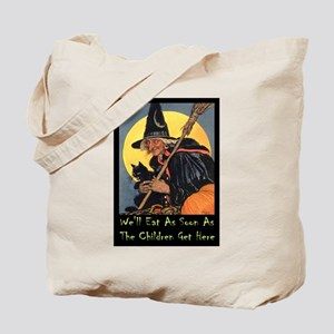 We'll Eat When the Kids Get Here Tote Bag