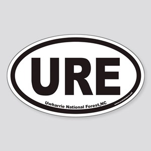 Uwharrie National Forest URE Euro Oval Sticker