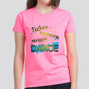 Lights Camera Music Dance Women's Dark T-Shirt