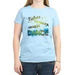 Lights Camera Music Dance Women's Light T-Shirt