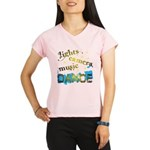 Lights Camera Music Dance Performance Dry T-Shirt