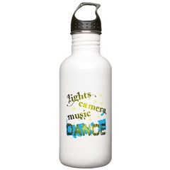 Lights Camera Music Dance Water Bottle
